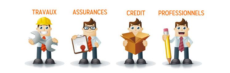 devis pour crédit, assurances, travaux et professionnels