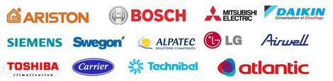 logos des marques de climatiseurs