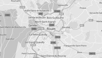 Carte de Travaux sur Rouen