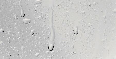 humidité sur vitre