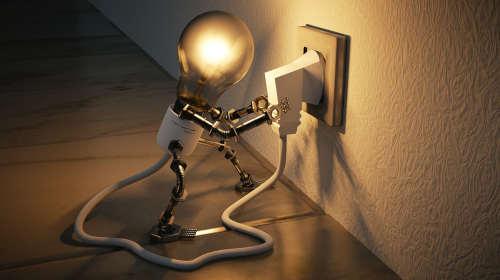prise de courant et éclairage