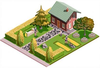 exemple d'aménagement du jardin