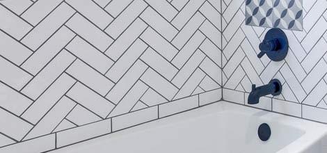 carreaux de douche en céramique