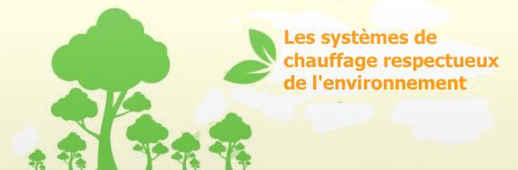 systèmes de chauffage écologiques