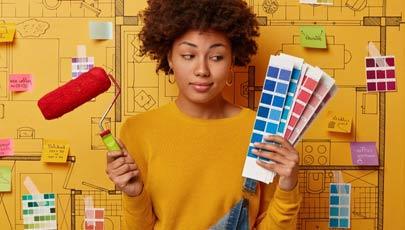 choix de la couleur de la peinture