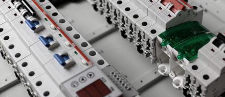 disjoncteurs en gros plan