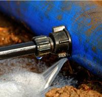 Fuite canalisation d'eau