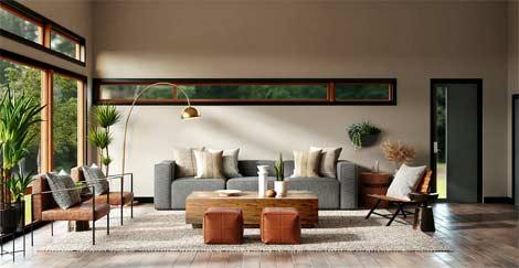 décoration intérieure réalisée par un professionnel
