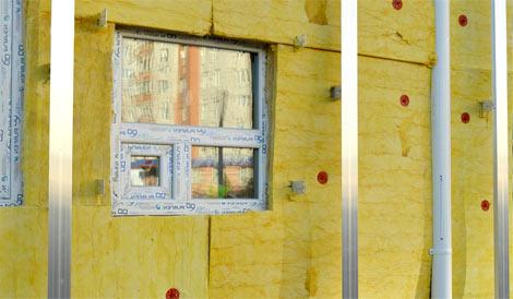 exemple d'isolation de façade de maison