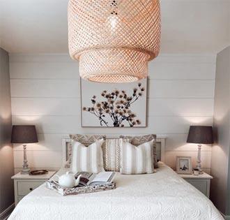 exemples de luminaires dans chambre à coucher