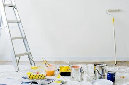 Travaux de peinture de mur
