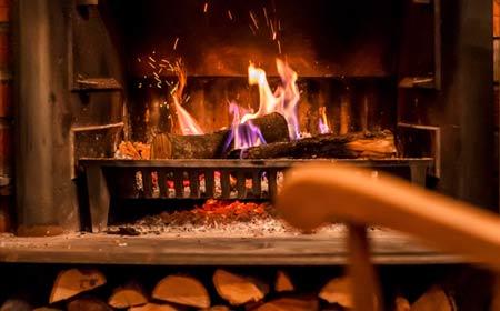 photo de feu de cheminée