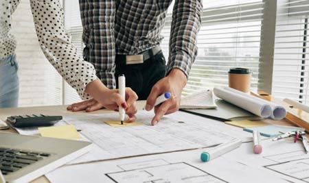 exemple de plans réalisés par un architecte