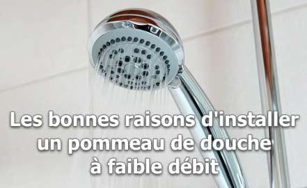 Les bonnes raisons d'installer un pommeau de douche à faible débit
