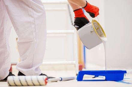 préparation de la peinture