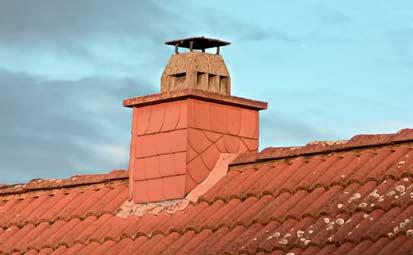 sortie de conduit de cheminée sur toit