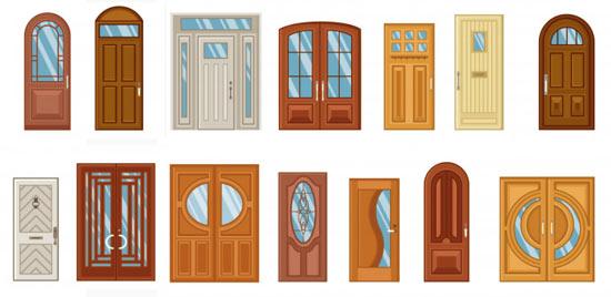 différents styles de portes