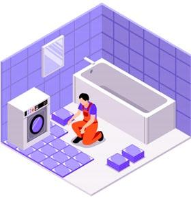 plmobier qui rénove une salle d'eau